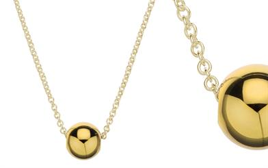 Najo's all yellow gold jiggle necklace