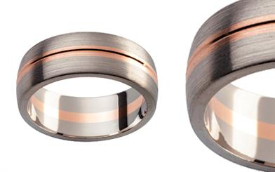 Twin Plaza Metals' Multi Tone wedding ring