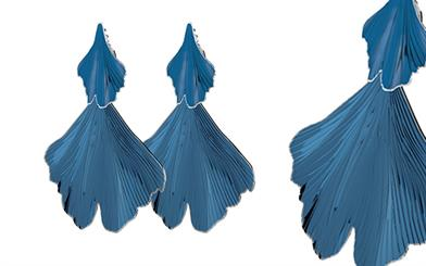 Dyrberg Kern Biloba earrings in blue
