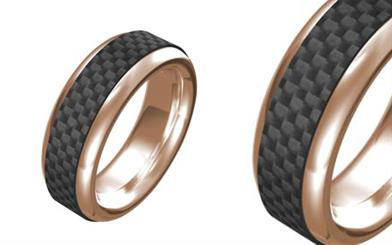 Cudworth stainless steel ring in rose gold