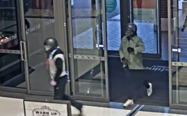 "Another armed robbery has occurred at a Michael Hill store. Image courtesy: <a href=""https://www.9news.com.au/national/2018/06/14/16/20/helmet-wearing-thieves-raid-melbourne-jewellery-store"" target=""_blank"">9 News</a>"