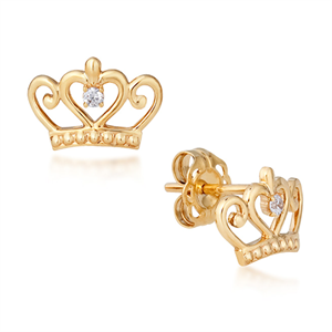 Couture Kingdom Disney crown earrings