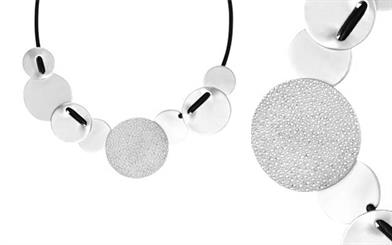 Dansk Smykkekunst Sierra short silver-plated necklace
