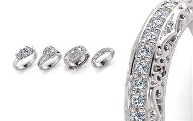 JewelMounts diamond ring collection