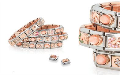 Nomination's 9-carat rose gold customisable bracelet collection