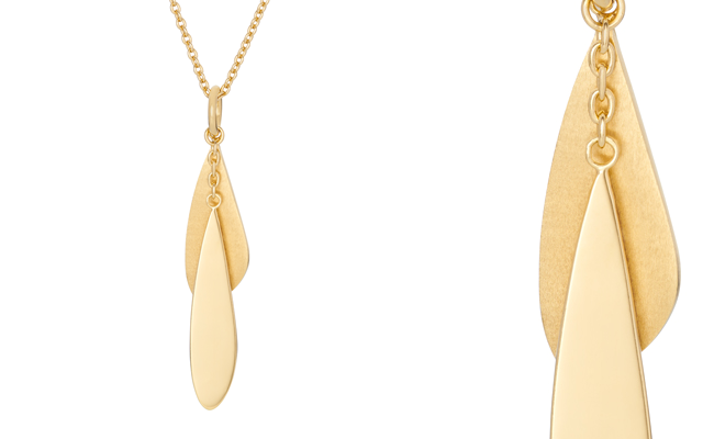 Pernille Corydon's 18-carat gold plated sterling silver necklace
