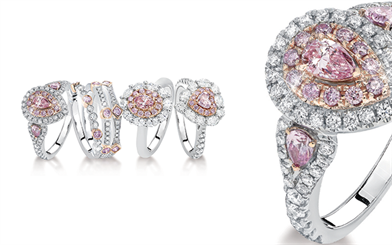 A collection of Pink Kimberley Diamonds jewelleries