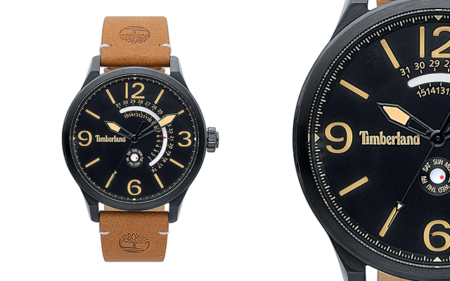 Timberland's Hollace watch in IP black stainless steel case