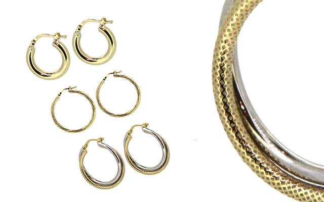 MGB Distributors' hollow hoop earrings range