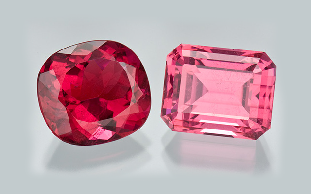 Image courtesy Gia Edu | Red tourmaline (Left) | Pink tourmaline (Right)
