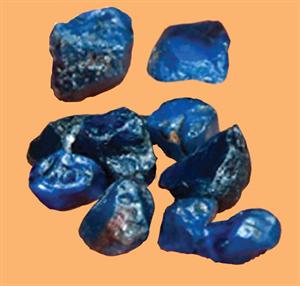 Rough Ethiopian sapphires. Image courtesy Wim Vertriest/GIA