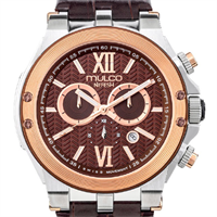 Nefesh Iconic dive wrist watch with rose gold accent