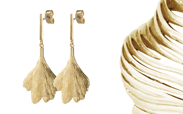 JLM International's Dyrberg Kern's Biloba earrings