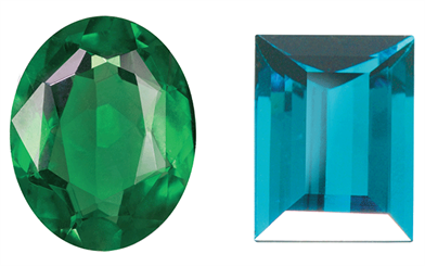 Image courtesy Greg Grace | Figure 1. Chrome tourmaline | Figure 2. Paraíba