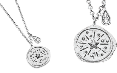 Pastiche's Northern Lights Compass Necklace