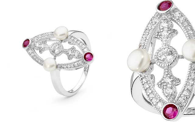 Ikecho Pearls' freshwater pearl ring