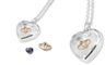 Stow Locket's sterling silver heart locket collection
