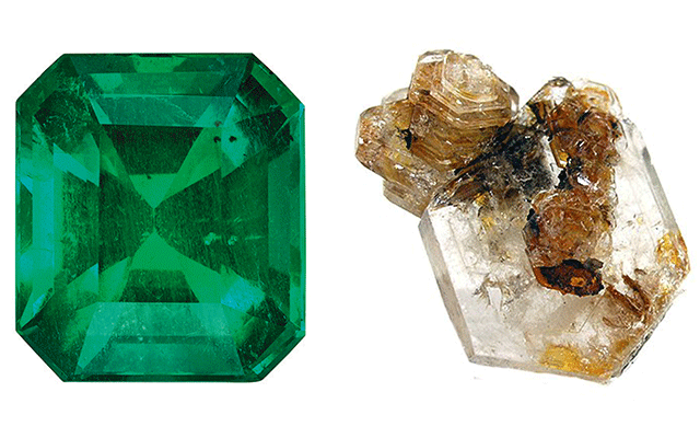 Left: Emerald | Right: Goshenite