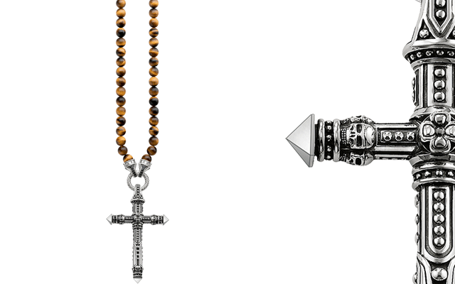 Thomas Sabo's tiger eye beads necklace