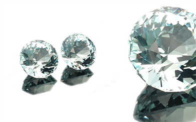 Bespoke Gems' pair of fine Mozambique aquamarine gemstones