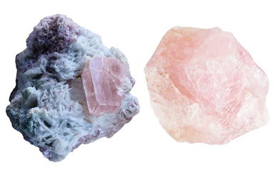 Left: Aquamarine | Right: Morganite
