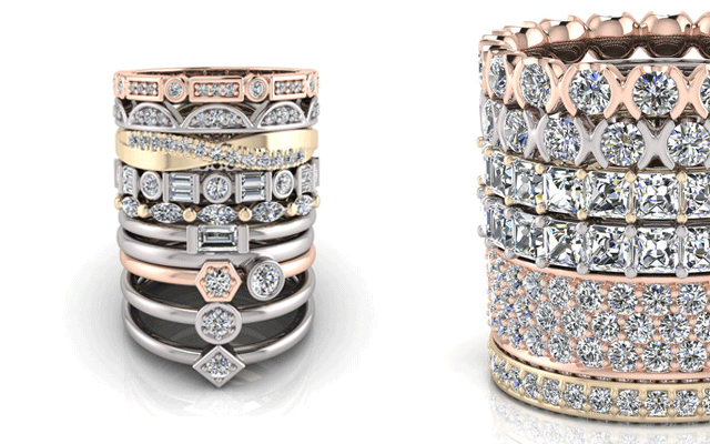 Chemgold's fully customisable stackable rings