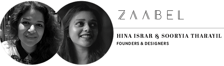 Zaabel Jewellery: Hina Israr & Sooryia Tharayil, founders and designers