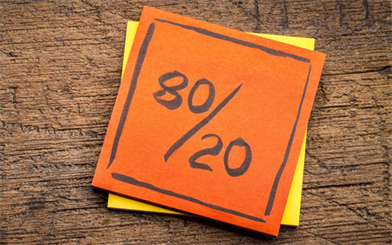 The 80/20 rule – AKA The Pareto Principle
