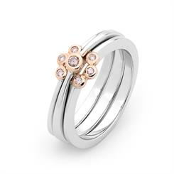 Pretty Pink stackable rings