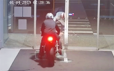 A clumsy thief is caught on camera dropping stolen jewellery during a late-night raid in Perth.