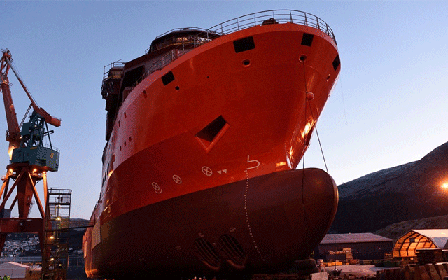 A new Debmarine vessel is being built