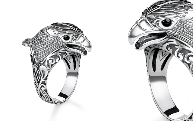 Thomas Sabo's sterling silver eagle ring