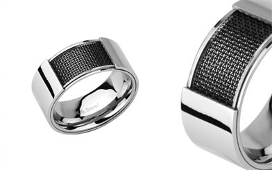 Cudworth's stainless steel mesh men's ring