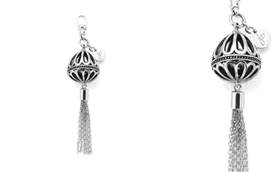 Fabuleux Vous' sterling silver balloon tassel pendant