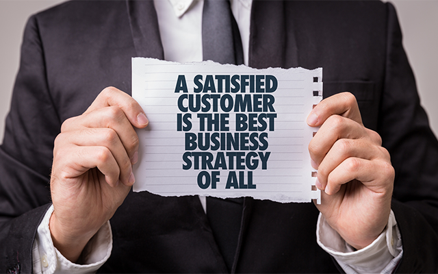 In retail, customer service comes first