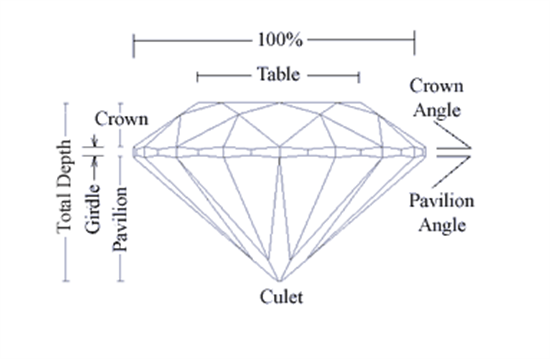 Jewellers input measurements from a diamond's grading certificate and the program does the rest.