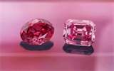 Argyle Muse and Argyle Alpha, the largest vivid pink and red diamonds ever shown in the collection. Image credit: Rio Tinto