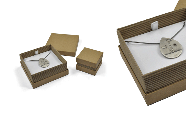 Jewellery boxes designed by Ayres Packaging.