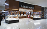 A burglar targeted Alexander Jewellers in the North Rocks Shopping Centre in Sydney.