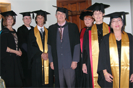 Graduates and teachers at the GJI graduation ceremony in Brisbane