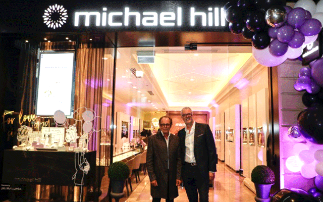 Sir Michael Hill and Daniel Bracken, CEO Michael Hill International, celebrated the business' 40th anniversary earlier this month as the company continues efforts to change its fortunes.