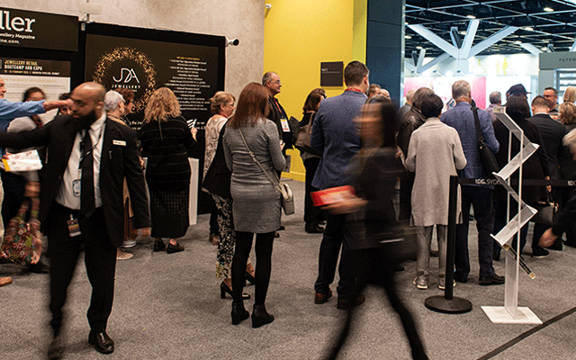 The crowds line up to enter the show floor ICC Sydney Exhibition Centre.