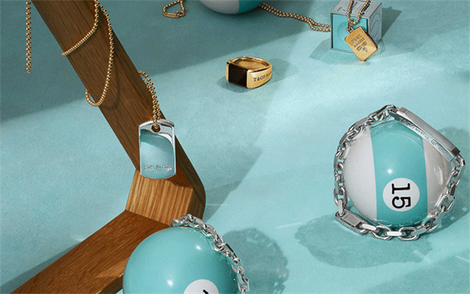 The Tiffany Men's collection includes jewellery, accessories and luxury versions of everyday objects.