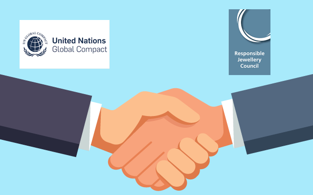 The UN Global Compact is partnering with the Responsible Jewellery Council to develop sustainability strategies for the jewellery industry.