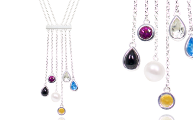 Fabuleux Vous' sterling silver necklace from the My Colourful Life collection