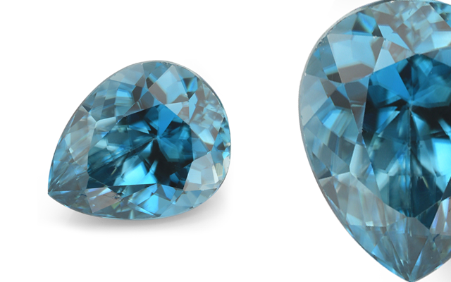O'Neils Affiliated's pear shape blue zircon