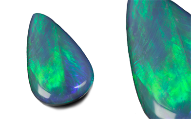 O'Neils Affiliated's freeform solid black opal