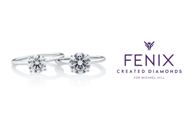A collection of eight synthetic diamond engagement rings will be stocked in selected Michael Hill stores and on its website.