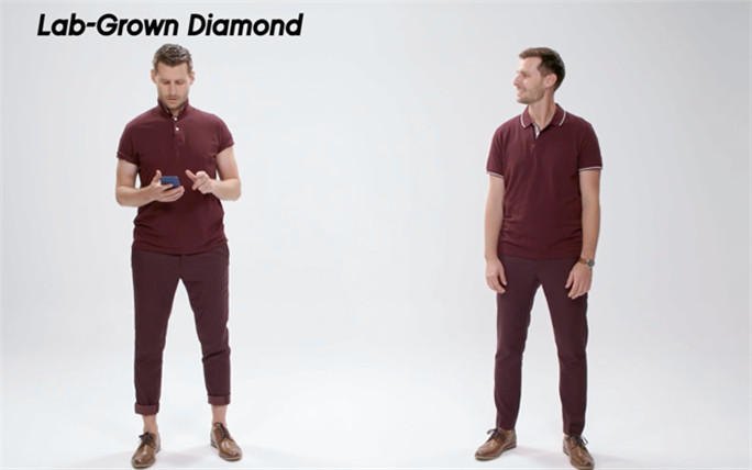 The Diamond Producers Association's new Funny Or Die videos see a 'Lab-Grown Diamond Guy' and a 'Natural Diamond Guy' bantering with each other.