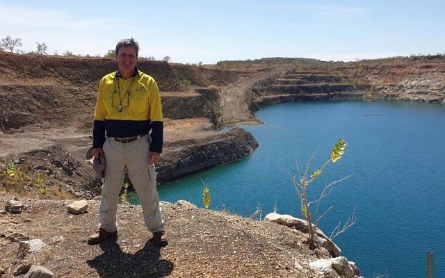Jim Richards, executive chairman Gibb River Diamonds, at the E4 pit on the Ellendale site.